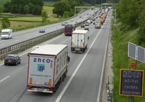 Die A9 ist eine der stärksten befahrenen Autobahnen in Bayern.